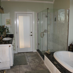 Bathroom Floor and Tub