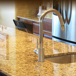 Countertop and Faucet